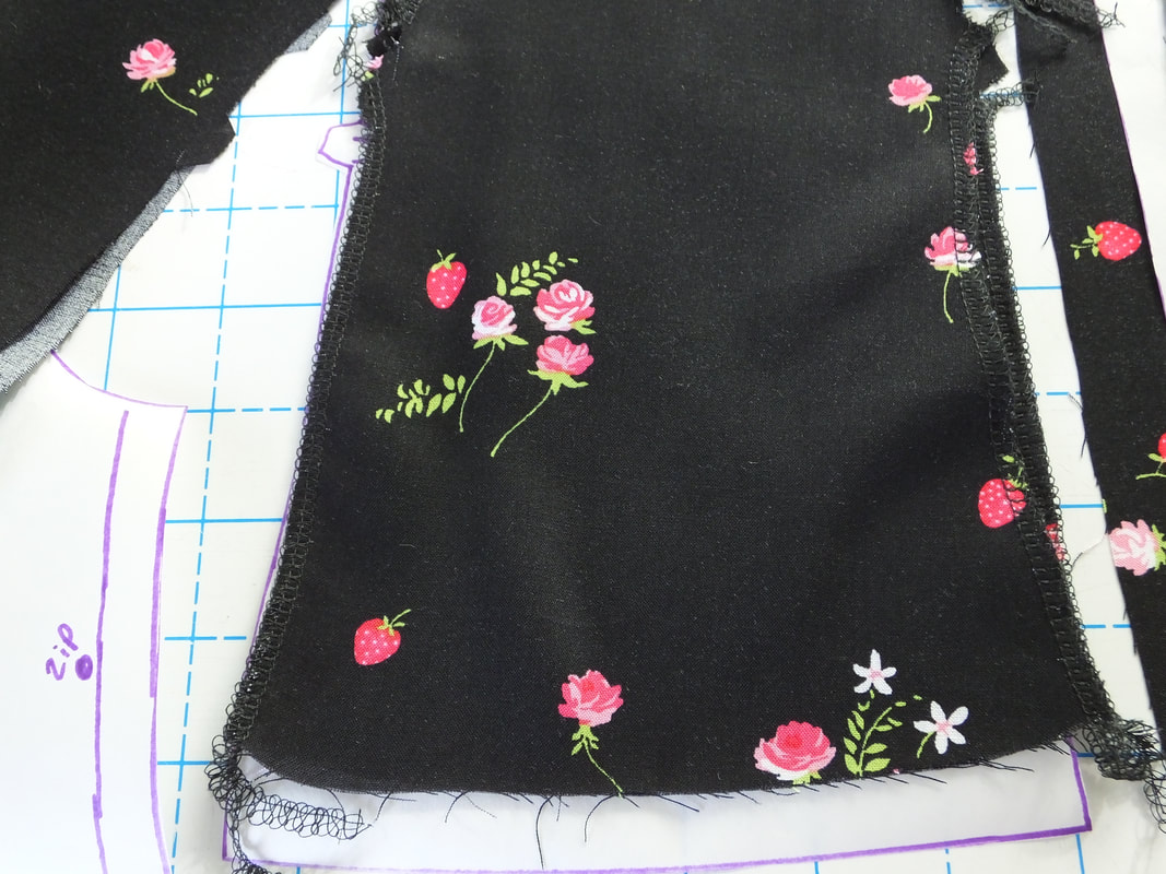 Use your serger to finish the raw edges on the rita blouse.
