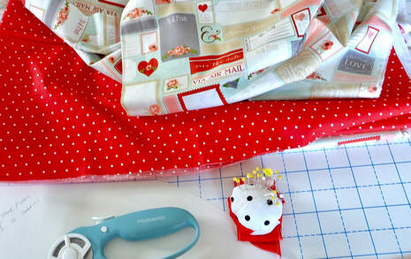 red and white polka dot fabric makes a super cute pinup hair scarf
