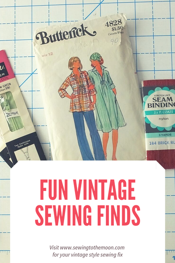 Vintage sewing finds. Notions and patterns Sewing to the Moon