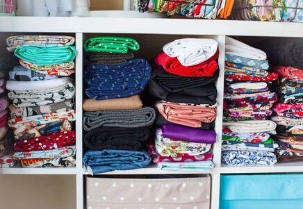 How to store your sewing fabric and notions