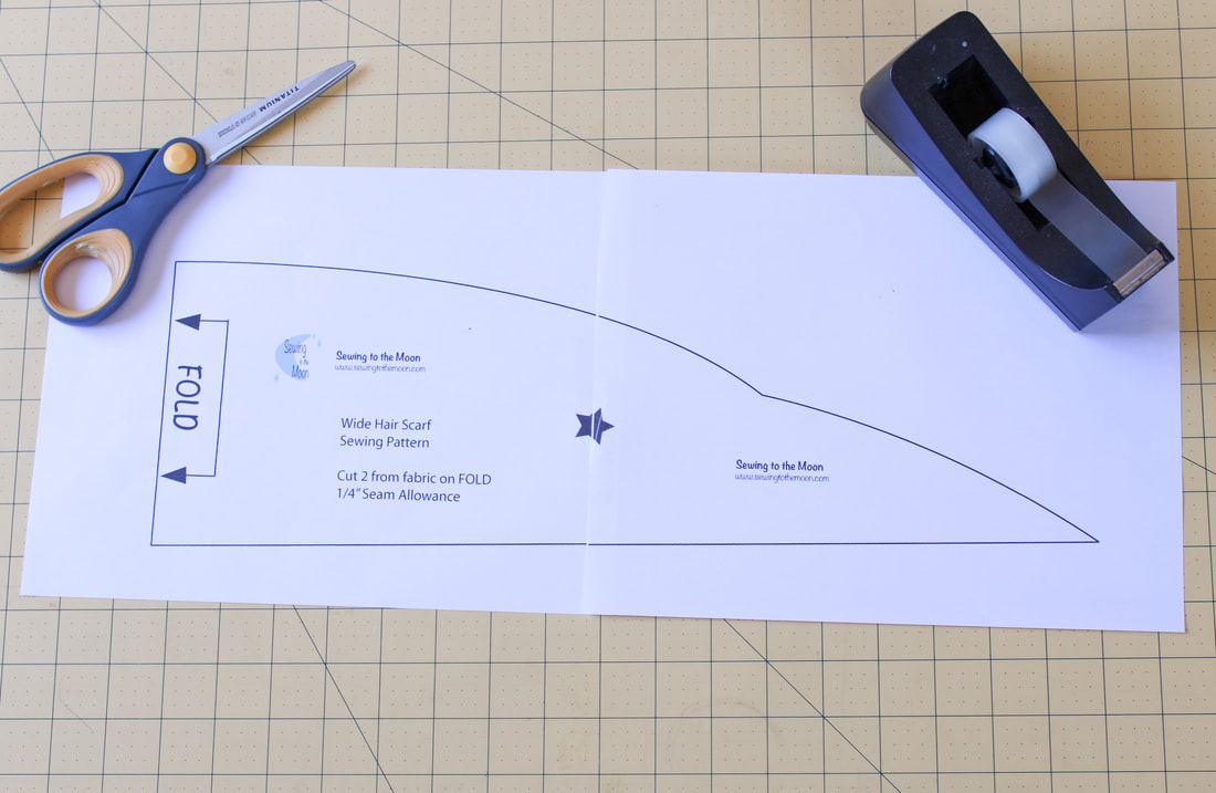 How to print out a PDF sewing pattern.