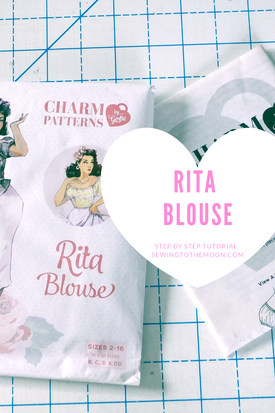 Rita blouse by gertie, charm patterns. This is a step by step sewing tutorial.
