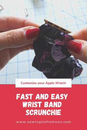 How to sew an Apple watchband scrunchie DIY
