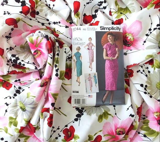 Simplicity 8244 1950s vintage sewing pattern how to sew cheongsam qipao sewing to the moon blog