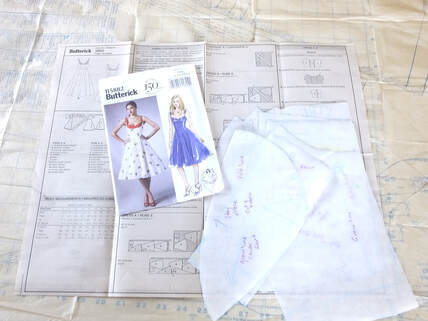 Butterick B5882 dress sewing instructions