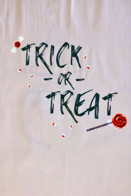Trick or Treat fabric from art gallery
