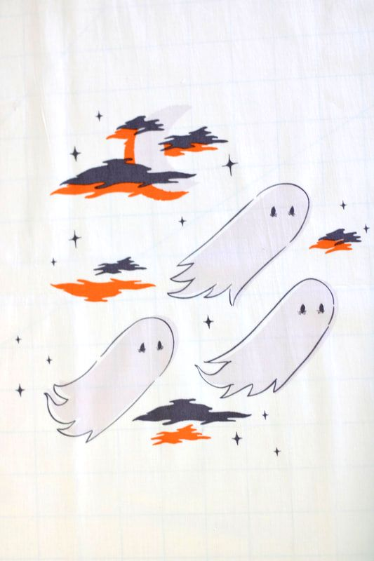 AGF sweet and spooky fabric panel