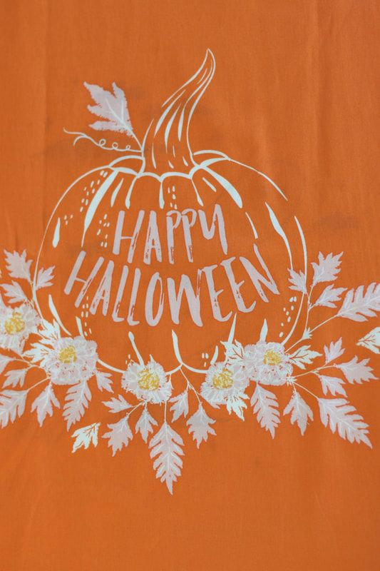 Art gallery fabric Happy Halloween sewing project