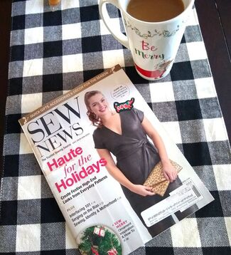 Sew News magazine a little fun reading with coffee