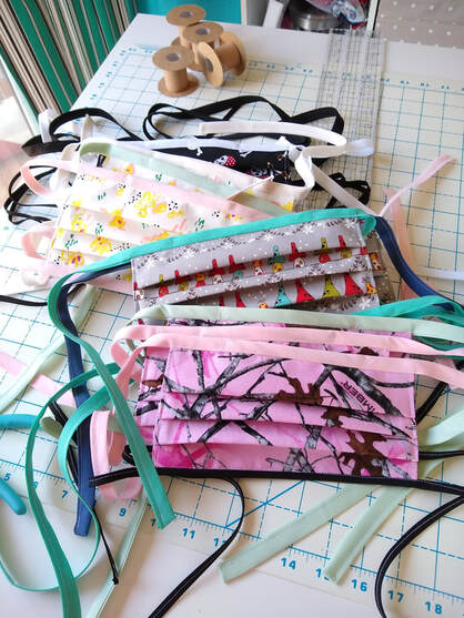 No elastic face masks. Sew with bias tape instead