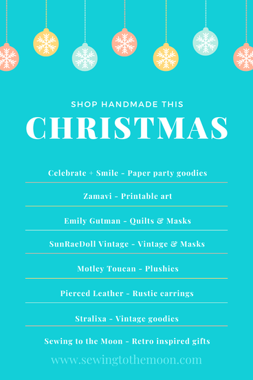 List of handmade businesses to shop from. Support handmade shops this Christmas